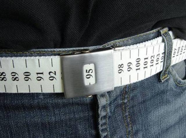 9. Belt measure, ideal for those who remain outside of the burgers.