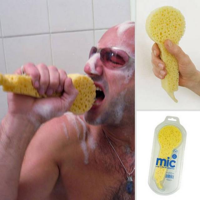 16. A sponge-shaped microphone, it is clear that we all need one of these.