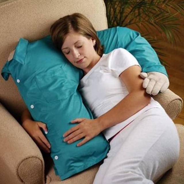 10. A man ?, hugging pillow ideal for those who do not like sleeping alone.